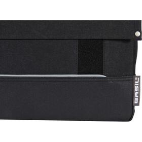 Basil Urban Fold Double Pannier Bag, black